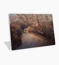 Little Creek No 4, watercolour painting of a small creek with trees and bushes. Laptop Skin