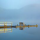 Pullwood Bay Jetty Windermere in the English Lake District by Martin Lawrence