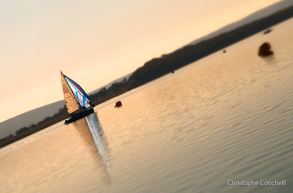 Le bateau qui remontait l'eau by Christophe Cotichelli