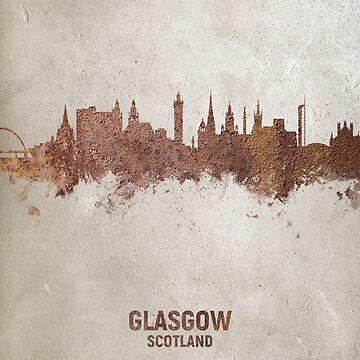 Glasgow Scotland Rust Skyline by ArtPrints