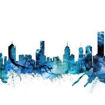 Melbourne Australia Skyline by ArtPrints