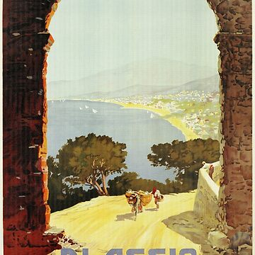 Vintage 1920s Alassio Italian travel advertising by aapshop