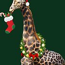 Christmas  Giraffe  by IconicTee