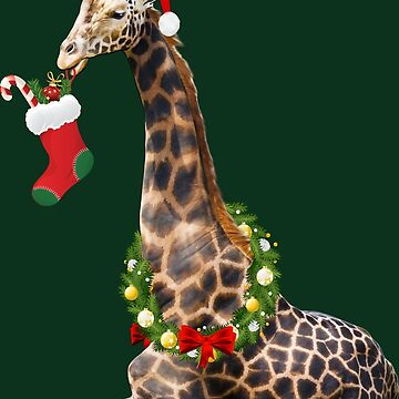 Christmas  Giraffe  by IconicTee