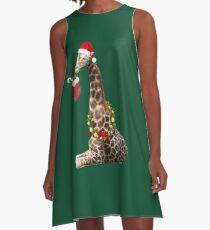 Christmas  Giraffe  A-Line Dress