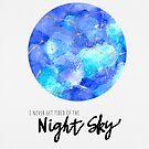 Night Sky von Claudia Brüggen