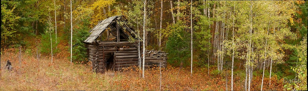 Moul Creek cabin in autumn...a Gigapan panorama by Darbs