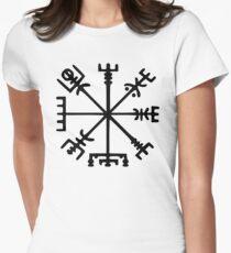 Vegvísir (Viking Compass) Women's Fitted T-Shirt