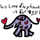 Purple Love Elephant by Beth A.  Richardson