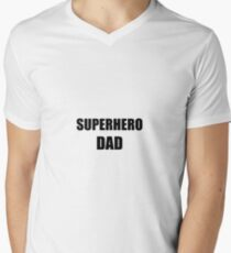 Dad Superhero Funny Gift Idea Men's V-Neck T-Shirt