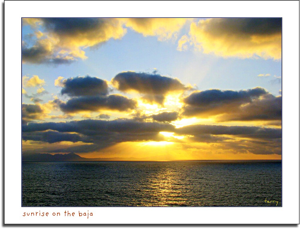 Sunrise on the Baja by Terry Temple