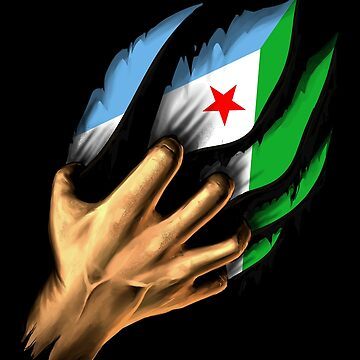 Djiboutian in Me Djibouti Flag DNA Heritage Roots Gift  by nikolayjs