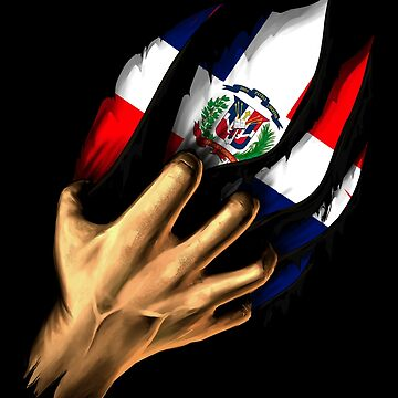 Dominican in Me Dominican Republic Flag DNA Heritage Roots Gift  by nikolayjs