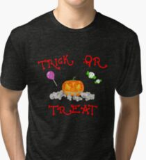 Trick or Treat - Halloween Tri-blend T-Shirt