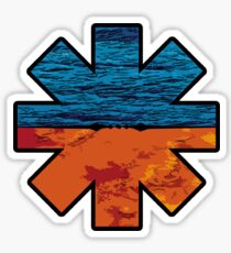 Asterisk with rhcp texture Sticker