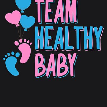 Team Healthy Baby Art | Future Parents Baby Shower Gift by NBRetail