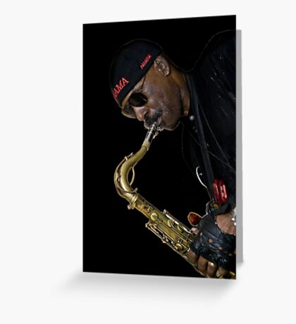 Fiery sax Greeting Card