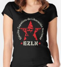 EZLN Zapatistas Red Star & Slogan Women's Fitted Scoop T-Shirt