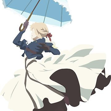 Violet Evergarden - Parasol - Minimalist Art by CaelynGreaves