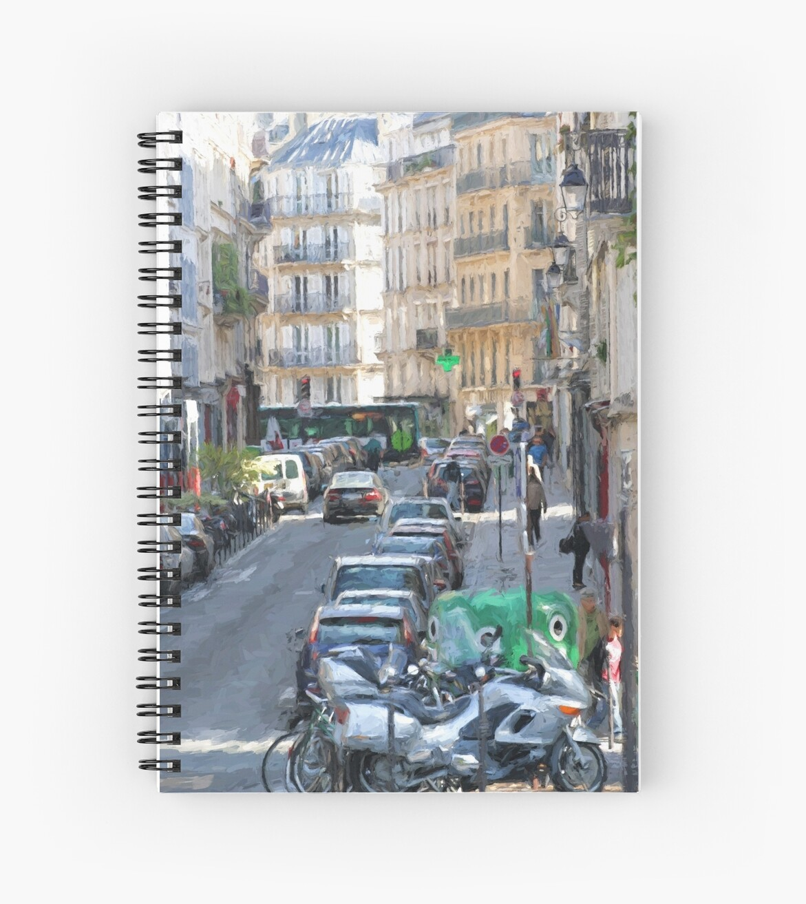 Typical Paris street view by Murray Swift