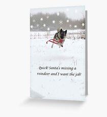 Santa Is Missing A Reindeer Greeting Card