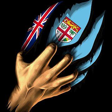 Fijian in Me Fiji Flag DNA Heritage Roots Gift  by nikolayjs