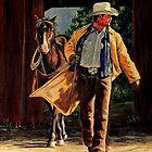 Cowboy Sunrise by Susan  Bergstrom