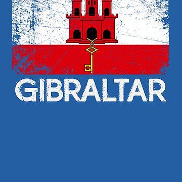 Gibraltar Flag Design | Vintage Made In Gibraltar Gift by melsens