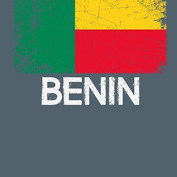 Beninese Flag Design | Vintage Made In Benin Gift by melsens