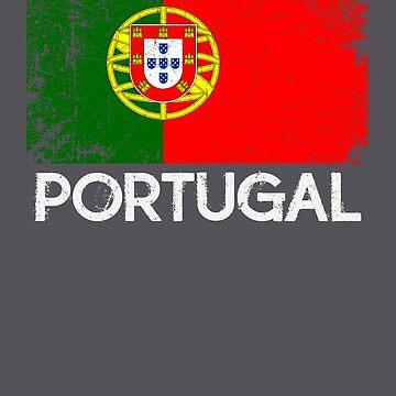 Portuguese Flag Design | Vintage Made In Portugal Gift by melsens