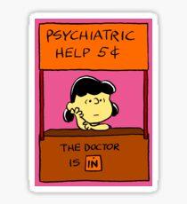 Lucy Van Pelt: The Doctor Is In Sticker