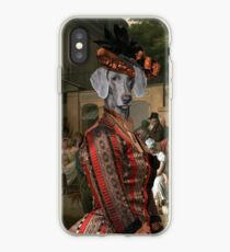 Weimaraner Art Canvas Print - Entrance to the Jardin Turc iPhone Case