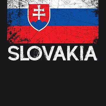 Slovak Flag Design | Vintage Made In Slovakia Gift by melsens