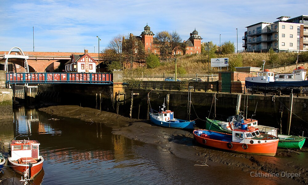Where the Ouseburn meets the Tyne by Catherine Dipper