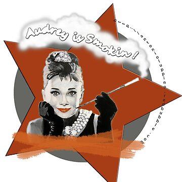 Audrey Hepburn in Breakfast at Tiffanys by antonioluppino