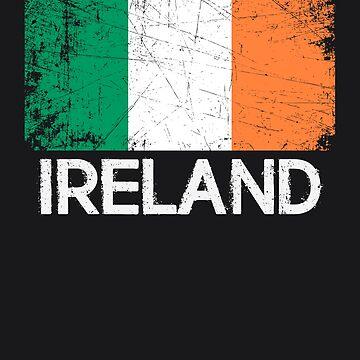 Irish Flag Design | Vintage Made In Ireland Gift by melsens