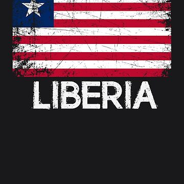 Liberian Flag Design | Vintage Made In Liberia Gift by melsens
