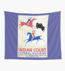 Great Plains Indian Artwork Wall Tapestry