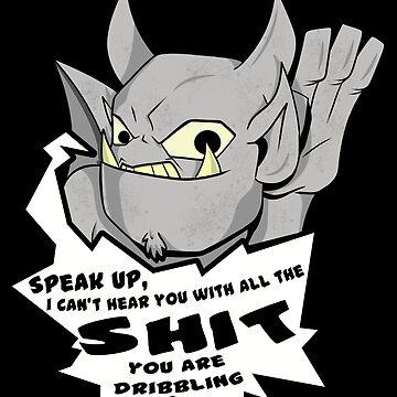 Grumpy Gargoyle speak up  by nicitadesigns