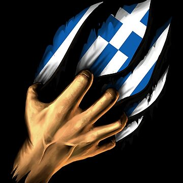 Greek in Me Greece Flag DNA Heritage Roots Gift  by nikolayjs