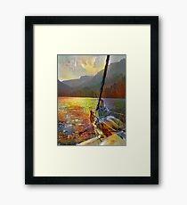 Sunset Sail Framed Print