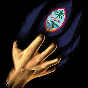 Guamanian in Me Guam Flag DNA Heritage Roots Gift  by nikolayjs