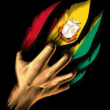 Guinean in Me Guinea Flag DNA Heritage Roots Gift  by nikolayjs