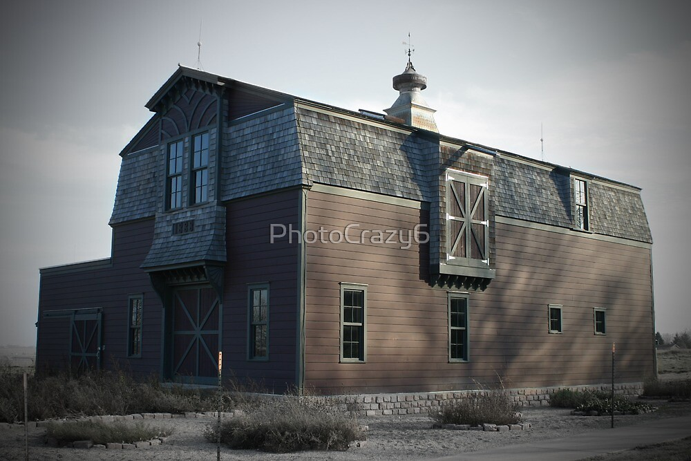 Barn in a field in South Dakota by PhotoCrazy6