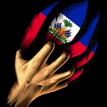 Haitian in Me Haiti Flag DNA Heritage Roots Gift by nikolayjs