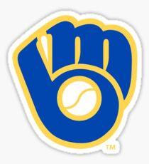 Pegatina Logotipo retro de los cerveceros de Milwaukee