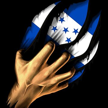 Honduran in Me Honduras Flag DNA Heritage Roots Gift  by nikolayjs