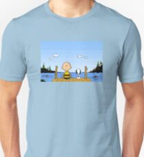 Charlie Brown Snoopy On Dock Unisex T-Shirt