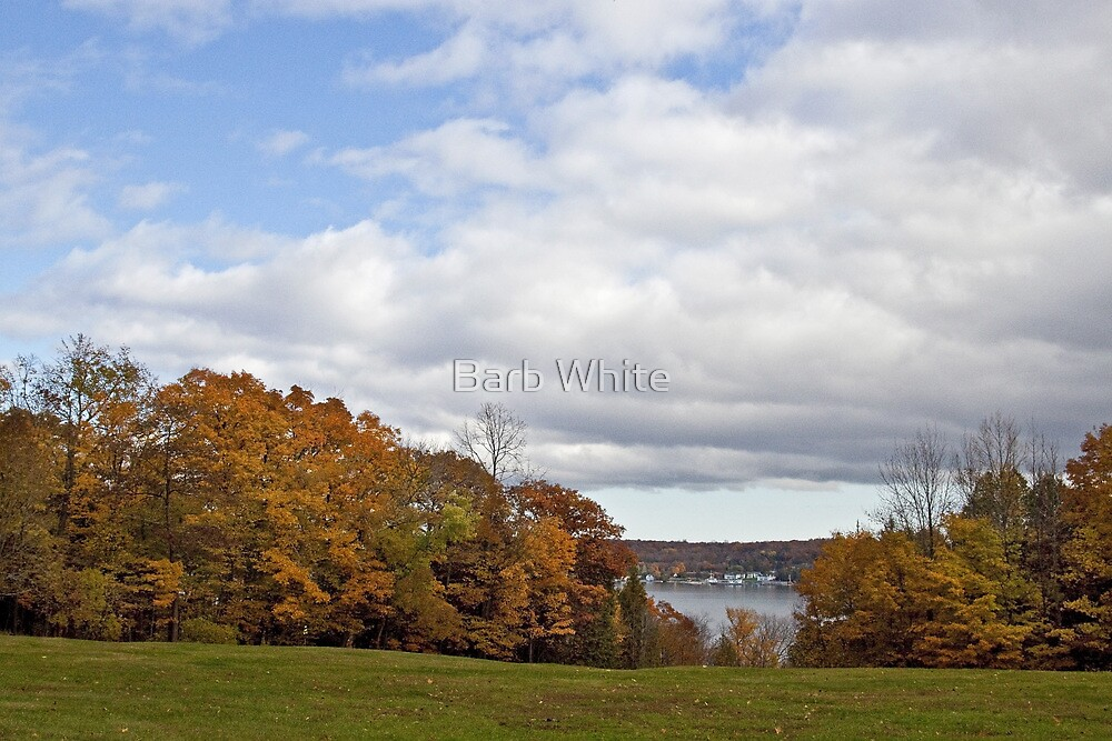 A peek-a-boo view of Ephraim, Wisconsin by Barb White