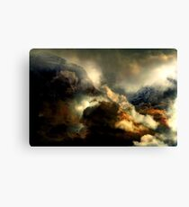 The Mountain's Water Curtain Opens Canvas Print